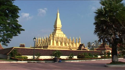 Vientiane Pha That Luang Stock Video Footage