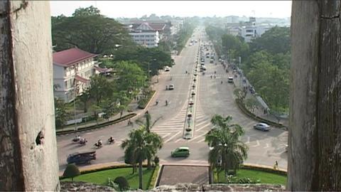 Vientiane Patuxai, overview Footage