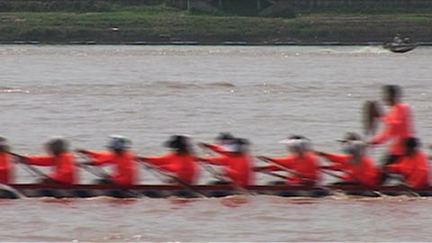 Boat race (suang heua) for Bun Nam Footage