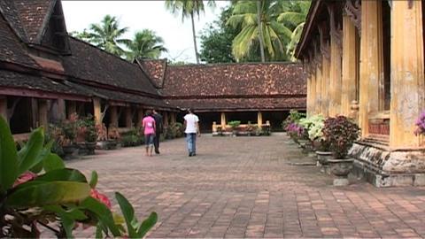 Wat Si Saket temple Footage