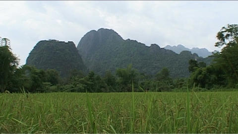 Vang Vieng, Karst hill landscape Footage