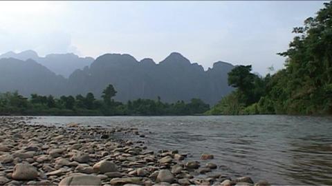 Nam Xong river Stock Video Footage