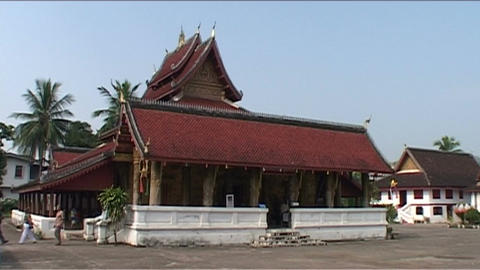 Luang Prabang Ban Pakham temple Stock Video Footage
