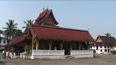 Luang Prabang Ban Pakham temple Footage