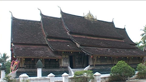 Luang Prabang Wat Xieng Thong temple Stock Video Footage