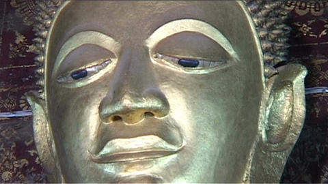 Luang Prabang Wat Xieng Thong temple, buddha Stock Video Footage