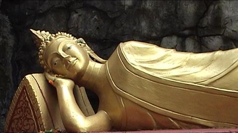 Mount Phu Si, buddha Footage