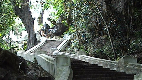 Mount Phu Si, chairs Stock Video Footage