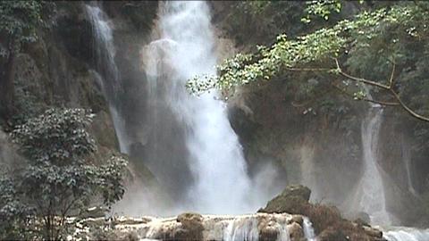 Luang Prabang Kuang Si waterfall Footage