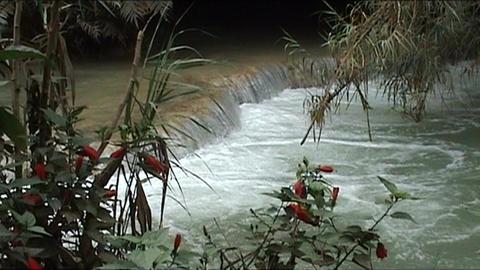 Luang Prabang, Kuang Si waterfall Stock Video Footage