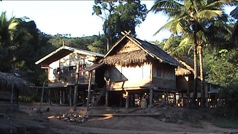 Ban Nalan Khamu village Stock Video Footage