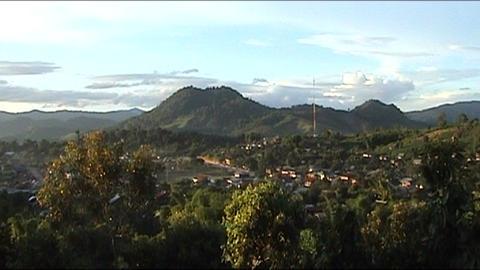 Vieng Phoukha landscape Stock Video Footage