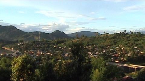 Vieng Phoukha landscape Footage