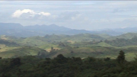 Vieng Phoukha view from moutain Stock Video Footage