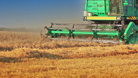 Harvester. Close-up Stock Video Footage