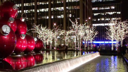 Manhattan Christmas Lights Stock Video Footage