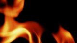 Close Up Fire Flames Against Black Background II stock footage