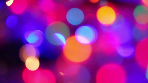 defocused colorful lights abstract background Footage