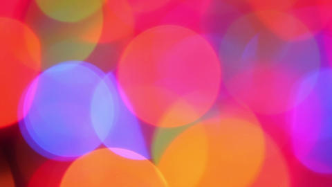 abstract colorful background - defocused lights Stock Video Footage