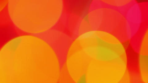 defocused lights - red orange abstract background Stock Video Footage