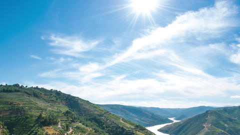 Timelapse in Douro Valley Footage