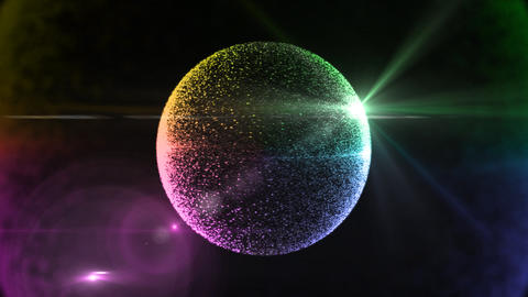 circle particle 2 Stock Video Footage