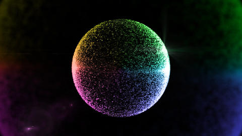 color circle particle background Stock Video Footage