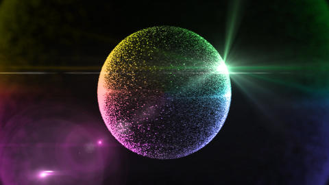 color circle particle background Animation