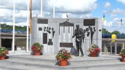 JFK Memorial 2 Stock Video Footage