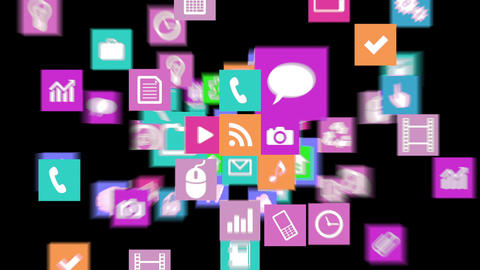Smart Phone apps G Ab 4 HD Stock Video Footage