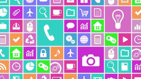Smart Phone apps G Ew 4 HD Stock Video Footage
