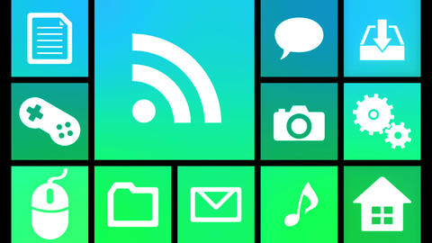 Smart Phone apps G Ib 4 HD Stock Video Footage
