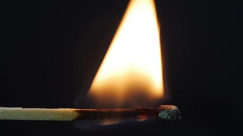 Burning match - horizontally Footage