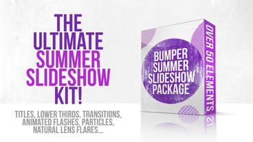 Bumper Summer Slideshow Package stock footage