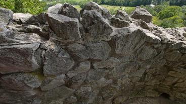 Rattlesnake Point Tilt Over Rocks 00178 Stock Video Footage