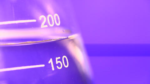 Lab test beaker Footage