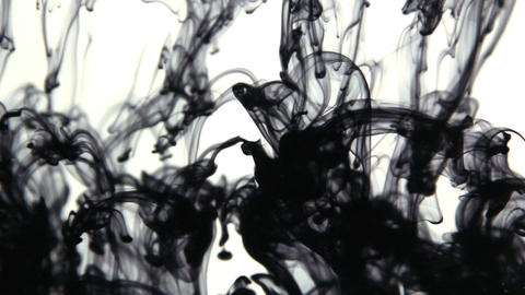 Ink Dispersing in water Footage