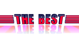 The Best. 3D animation text Stock Video Footage