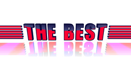 The Best. 3D animation text Animation