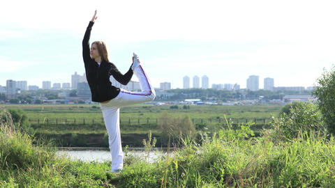 Asana pose 2 Stock Video Footage