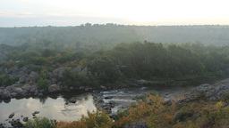 sunrise over the river canyon Stock Video Footage