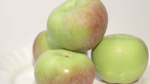 Healthy Organic Apples Footage