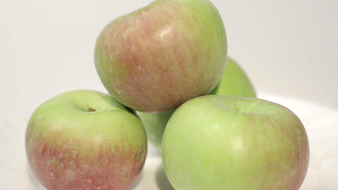 Healthy Organic Apples Stock Video Footage