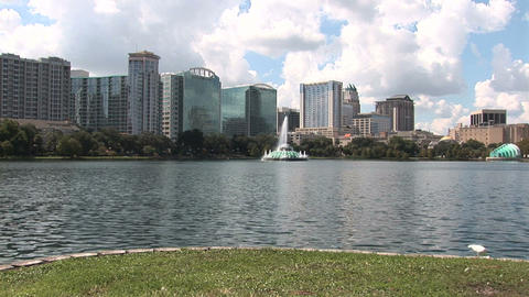 Downtown Orlando Stock Video Footage