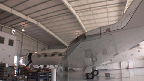 Plane hanger HD Footage