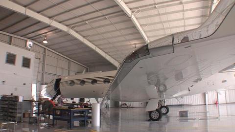 Plane hanger HD Stock Video Footage