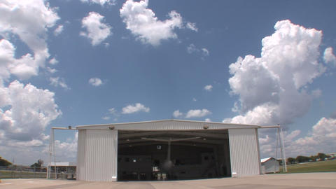 Plane in hangar Stock Video Footage