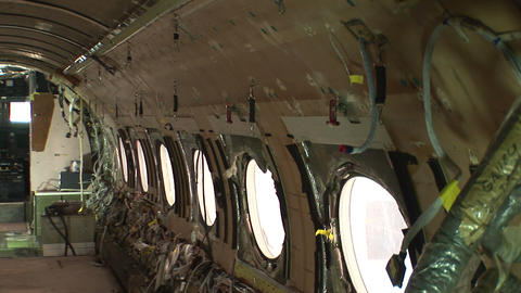 Stripped airplane Stock Video Footage