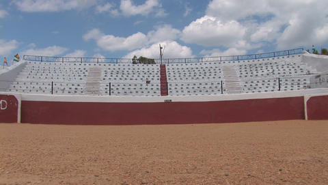 Bull fighting arena Stock Video Footage