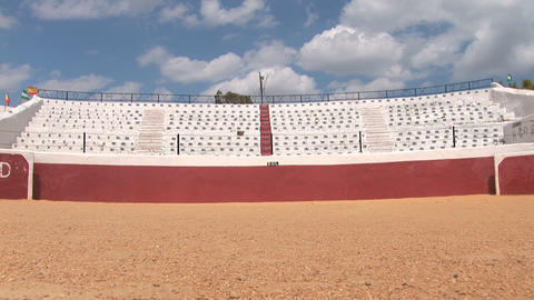 Bull fighting arena Footage